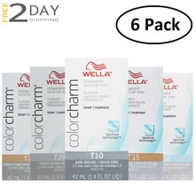 Load image into Gallery viewer, 6 Pack WELLA Color Charm Permanent Liquid Hair Toner