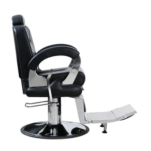 Package of 4 FURY Reclining Barber Chair 4 x BC-2CBLK