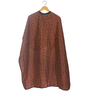 "STYLETEK Milan Red/Gold Barber Cape 60"" x 45"" CA-0067"
