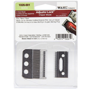 WAHL 3 Hole Adjusto-Lock Clipper Replacement Blade