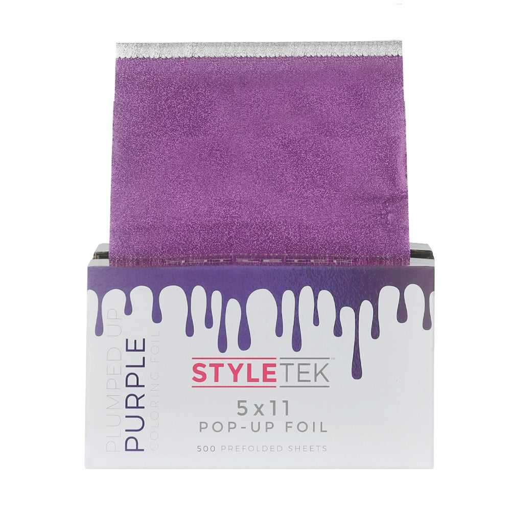 Styletek 5 x 11 Pop-Up Foil Plumped Purple 500 Prefolded Sheets HC-ST54-PUR