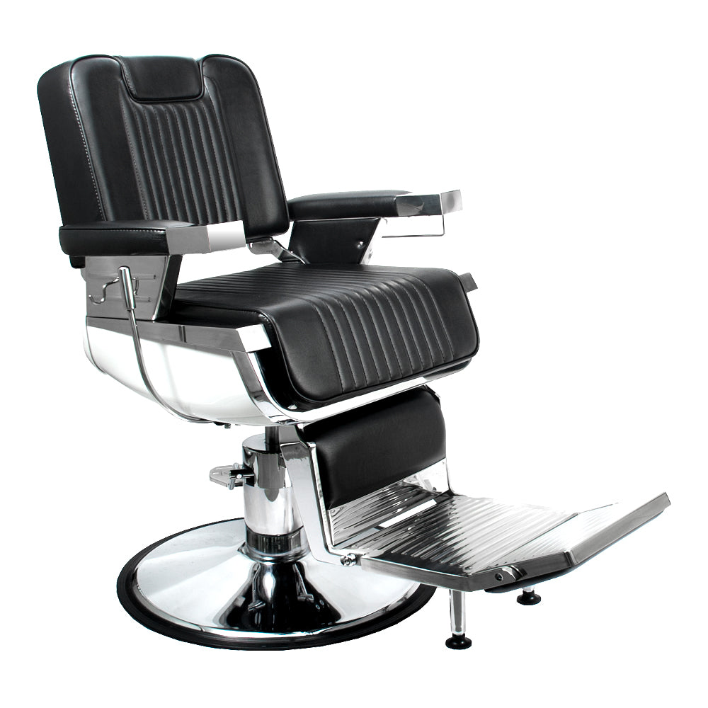 LUNIZ Professional Reclining Barber Chair with Flushed Headrest BC-31BLK