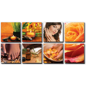 Golden Spa Stretched Canvas Murals Ensemble CM-GS