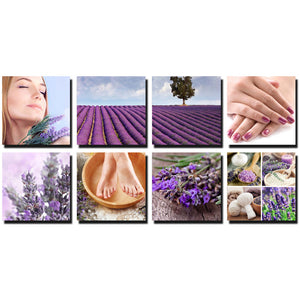 Lavender Fields Stretched Canvas Murals Ensemble CM-LF