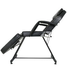 Load image into Gallery viewer, KOOPER Facial Bed with Stool and Adjustable Head Rest FB-40BLK
