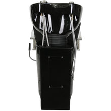 Load image into Gallery viewer, MIRAGE Round Chrome Handle Shampoo Backwash Unit with Leg Rest SU-06