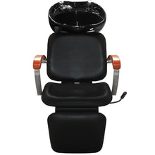 Load image into Gallery viewer, HARRAH Shampoo Backwash Unit with Wooden Arm Rest SU-75
