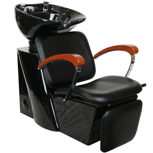 HARRAH Shampoo Backwash Unit with Wooden Arm Rest SU-75