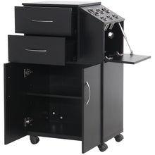 Load image into Gallery viewer, BAYLOR Salon Wood Trolley TR-07BLK