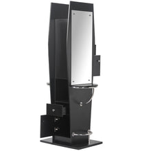 Load image into Gallery viewer, JESSE Pearl Black Double Styling Station with Mirror WS-20BLK