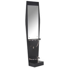 Load image into Gallery viewer, QUINN Pearl Black Single Sided Styling Station with Mirror WS-30BLK