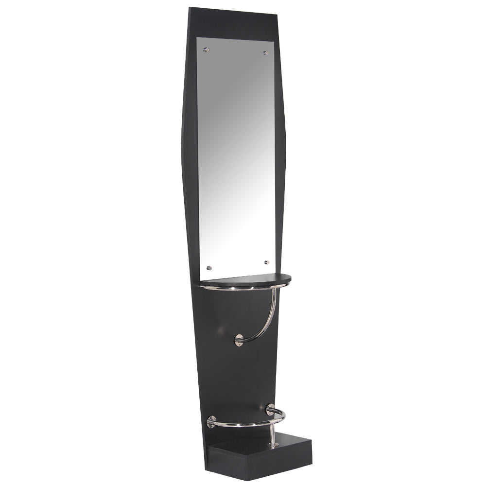 QUINN Pearl Black Single Sided Styling Station with Mirror WS-30BLK