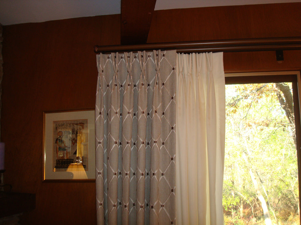2 Layers of Drapes - 2 Finger Pleated Heading - Curtain Couture