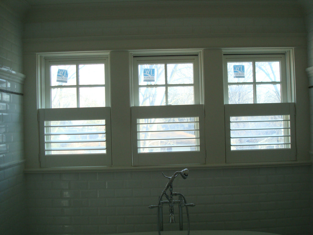 Cafe' Shutters from HunterDouglas - Designed by Curtain Couture