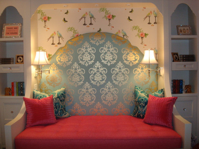 Headboard, Pillows and Cushion - Curtain Couture & Kelly Stevenson Interiors