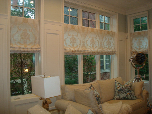 Flat Roman Shade - Curtain Couture & Kelly Stevenson Interiors