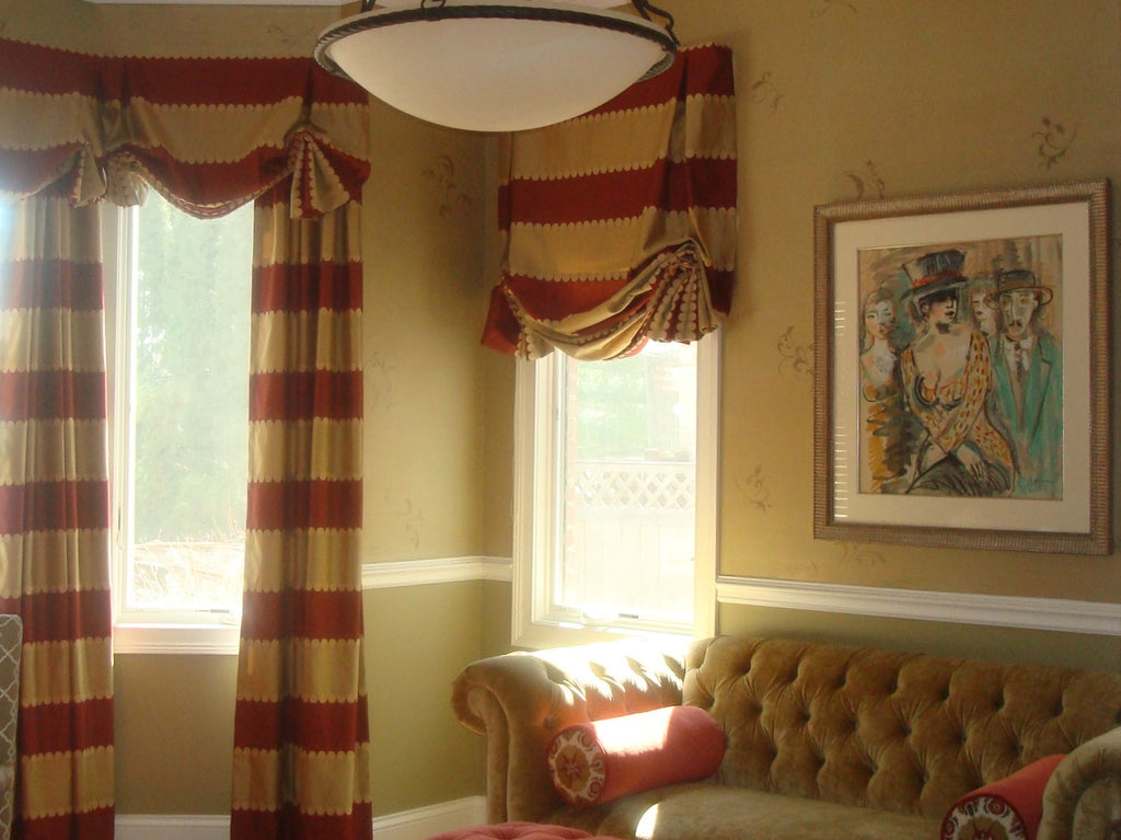 Drapery, Valance & Shades - Curtain Couture & Kelly Stevenson Interiors
