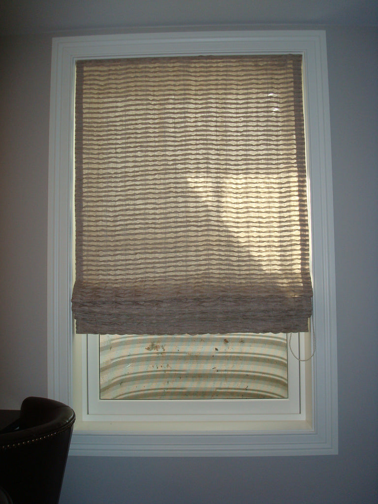 Flat Roman Shade - Curtain Couture & Lisa Wolfe Design