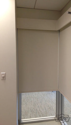 2 Corner Motorized shades from HunterDouglas for Chicagoland Retinal Consultants office