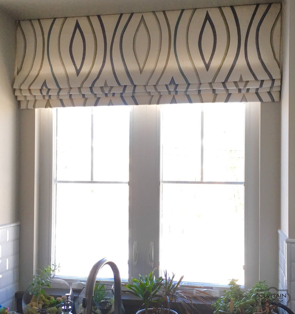 Over the sink valance by Scott Laslie Designs & Curtain Couture