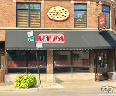 Cafe' Curtain for Big Bricks restaurant in Northcenter , Chicago