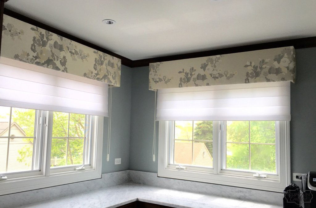 Blinds Shades Shutters Upholstered Cornices + Silhouette Shades by Curtain Couture