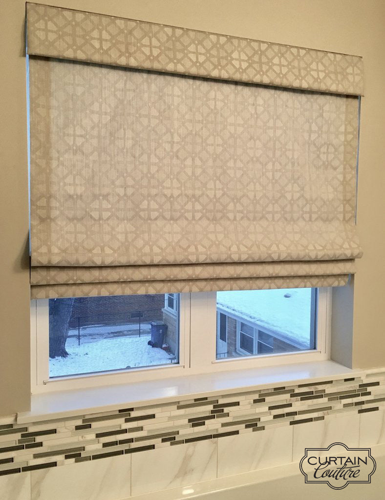 Inside mount fabric shade with valance