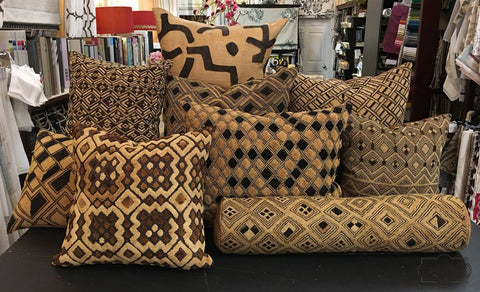 African textile pillows by Curtain Couture