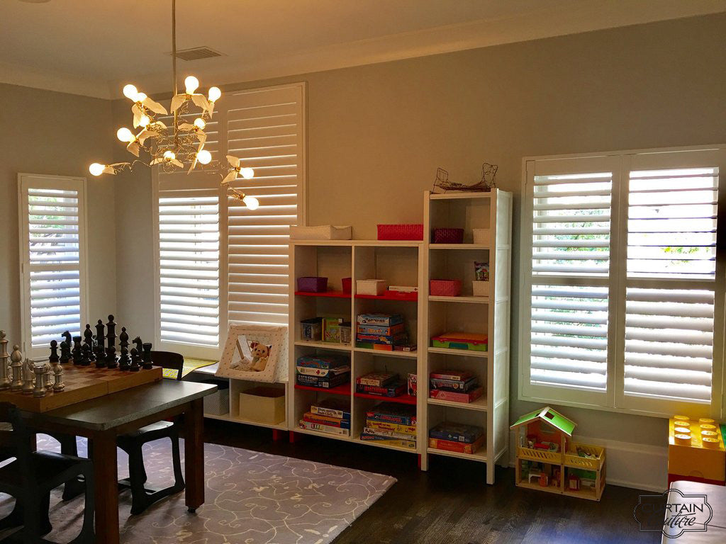 Hunterdouglas Shutters for the playroom