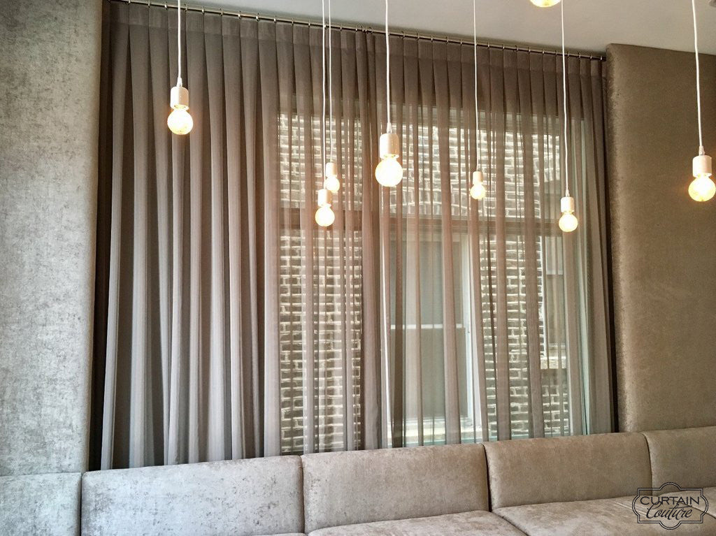 Inverted Pleats Sheer Panels by Haven Designs & Curtain Couture