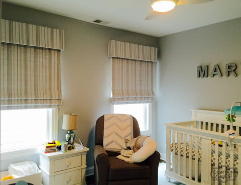 Roman Shades for Boy's room
