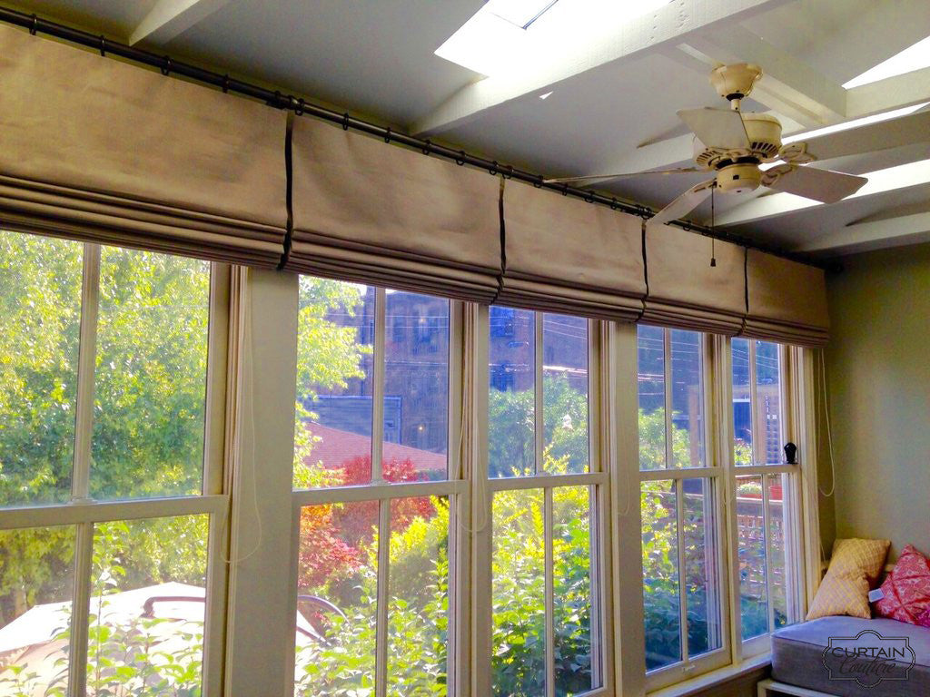 Functional Roman Shades for Sunroom