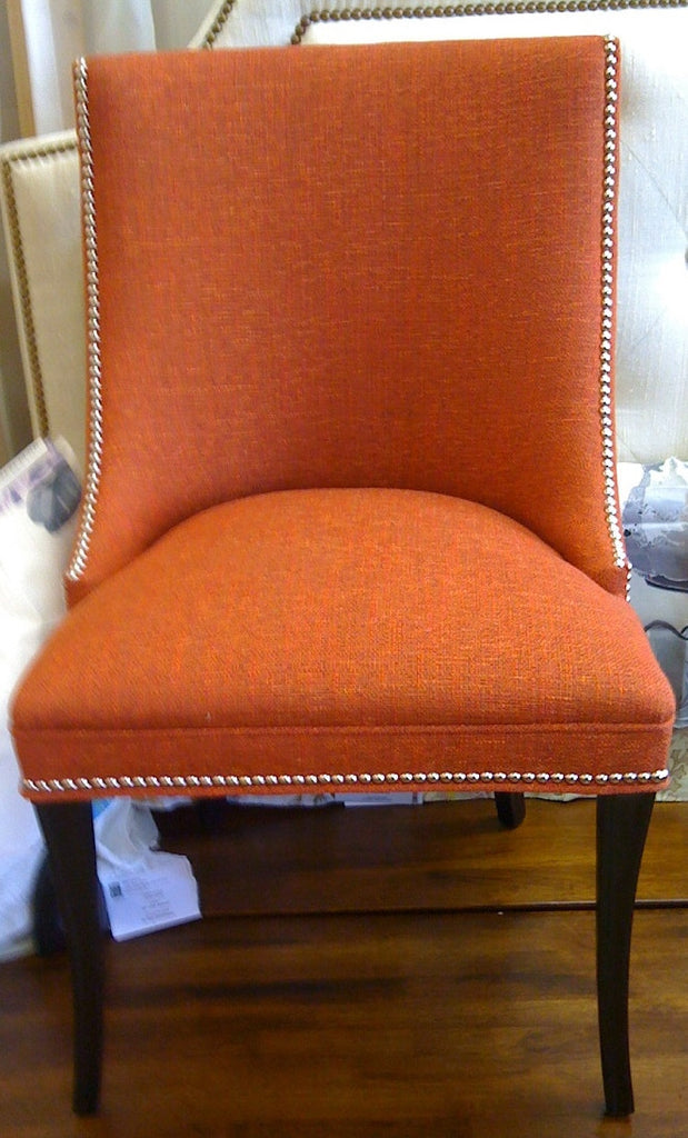 Reupholstered Chair - Curtain Couture