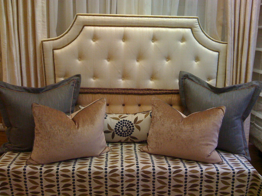 Headboard + Pillows - Curtain Couture