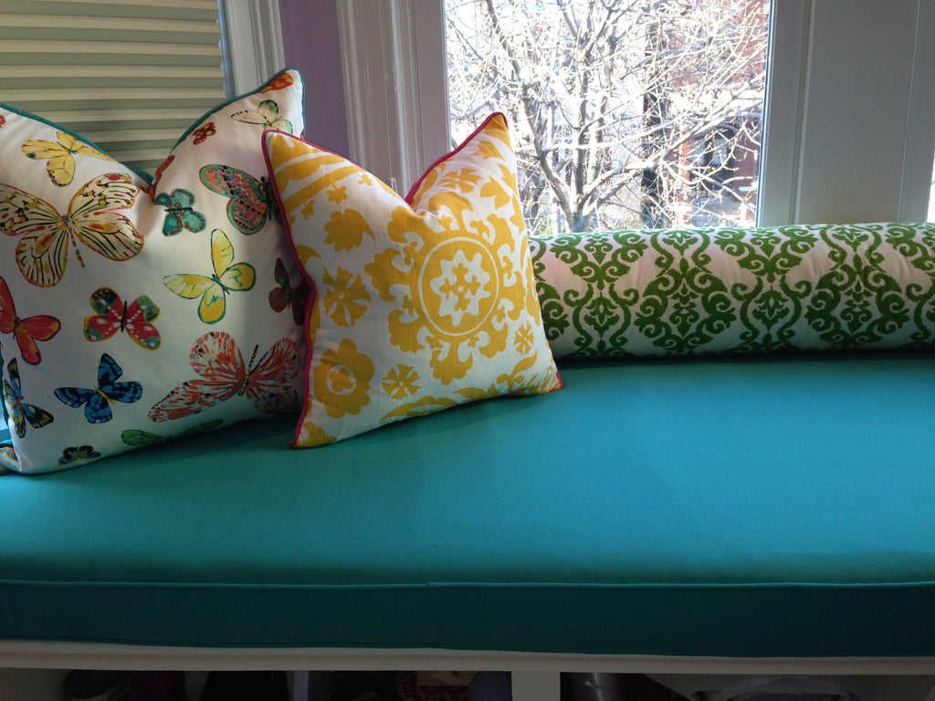 Window Seat and Pillows - Curtain Couture & NMdeignshouse