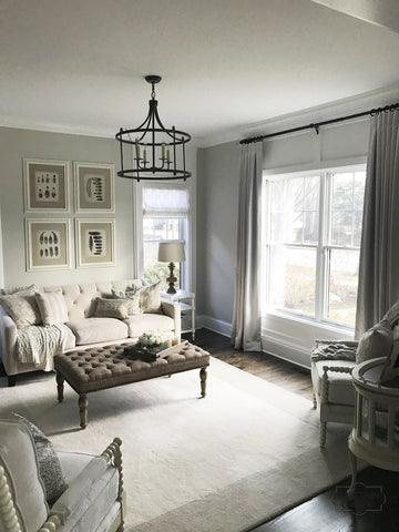 Soft Sheer for elegance family room by Curtain Couture.
