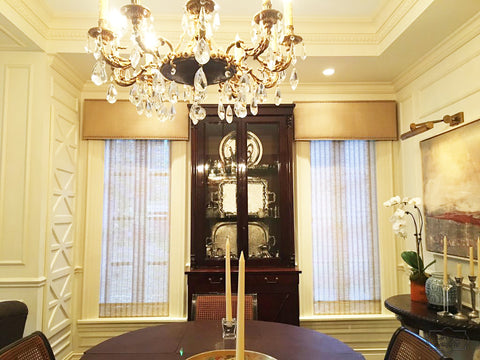 Upholstered Cornices by Modlife Designs & Curtain Couture.