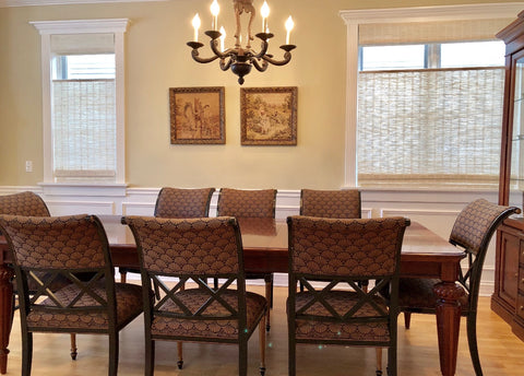 Top- Down / Woven Wood for Traditional Dining Room