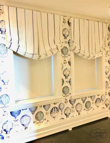 Beautiful Fabric Shades by Andrea Majors Designs and Curtain Couture