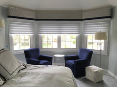 Silhouette Shades under cornices by Silhouette designs and Curtain Couture