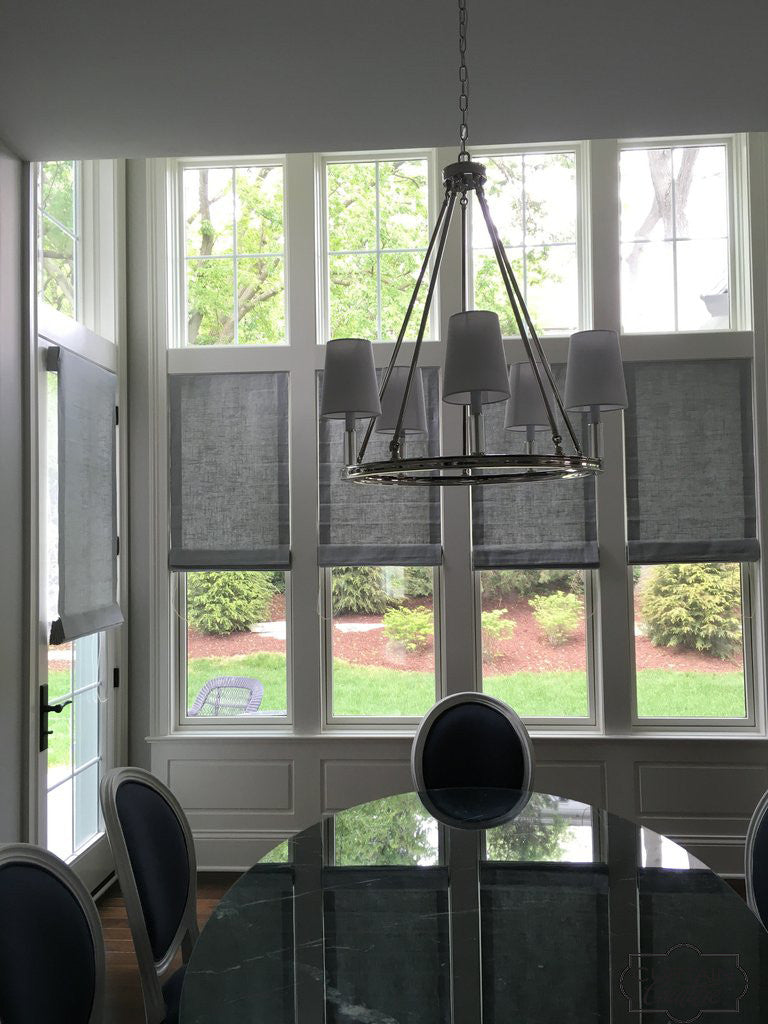 Sheer Roman Shades by Jason Ward Designs & Curtain Couture