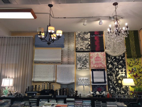 Showroom - Fabric Shades Display