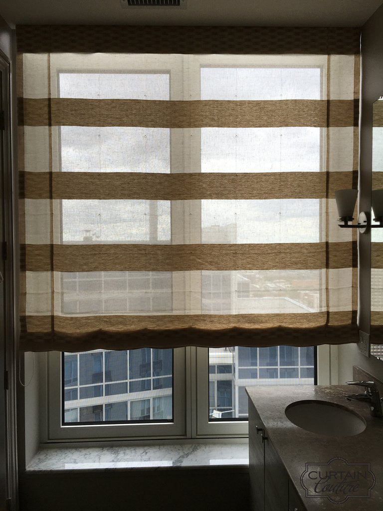 Functional sheer shade by Nora Schneider Designs & Curtain Couture