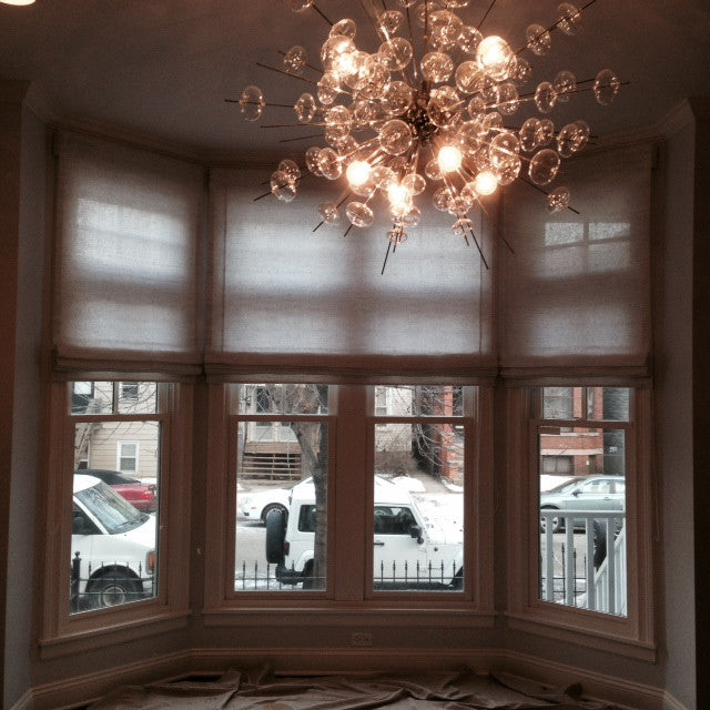 Sheer Shades fro bay windows - Curtain couture & NMdesignhouse
