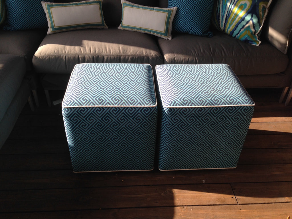 Outdoor Ottoman by DMdesigns & Curtain Couture