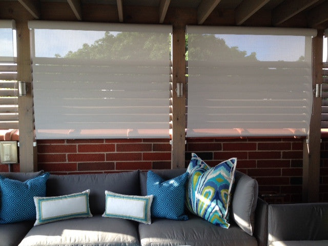 Outdoor Roller Shades and Pillows