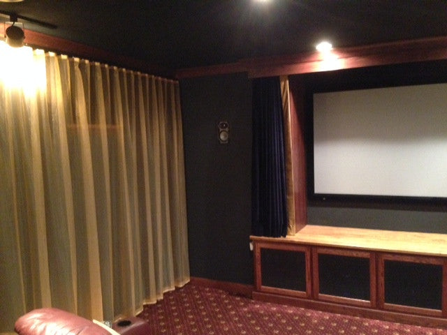 Theater Room Drapes