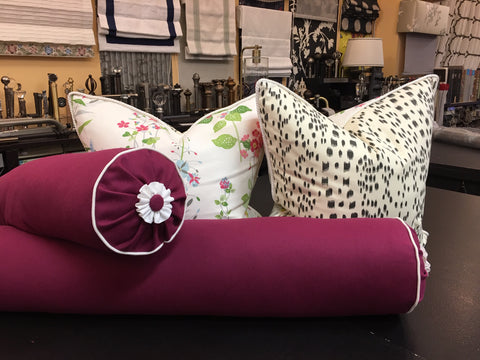 Custom Decorative Accent Pillows - Features Invisible Zipper - Down Feather Insert - Designed by M+M Design & Curtain Couture