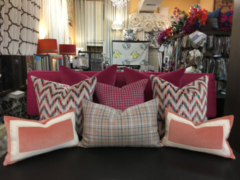 Custom Pillows Galore - Our Workroom Made Couture Pillows. Fabricated by Curtain Couture.