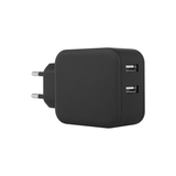 Chargeur 2 USB - Design Soft Black